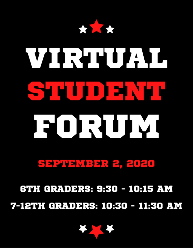 Virtual Secondary Student Reopening Forum: September 2, 2020