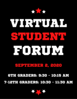 Virtual Student Reopening Forum: September 2, 2020