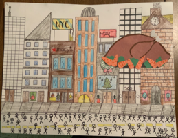 Remote Learning: Elementary Artwork of The Thanksgiving Day Parade