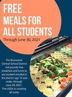 eNews Update: Free Meals for All Students extended