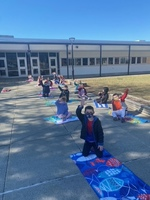 A look at: Kindergartener students enjoying the weather