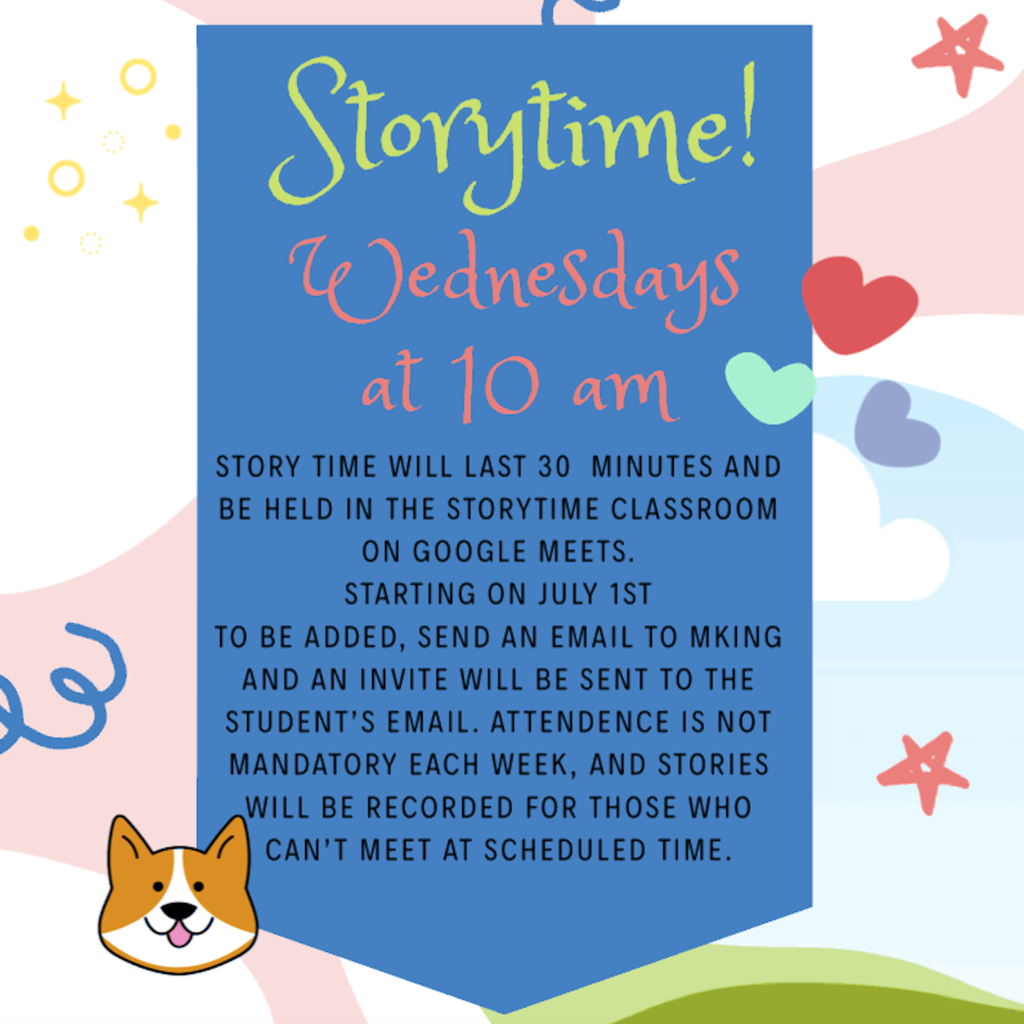 Summer Storytime Begins July 1