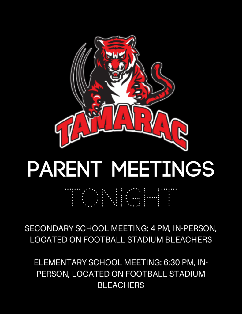 Parent Meetings TONIGHT